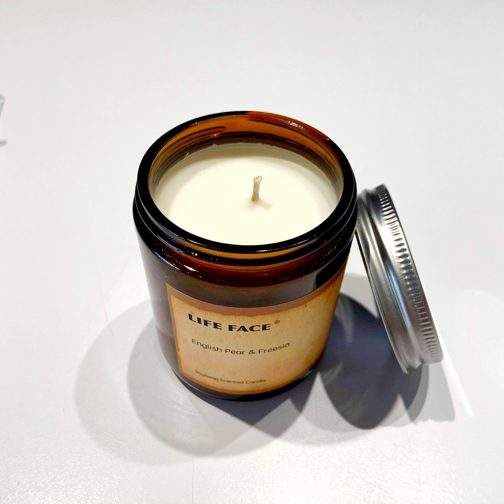 Soy Candle in Jar - Pear and Freesia