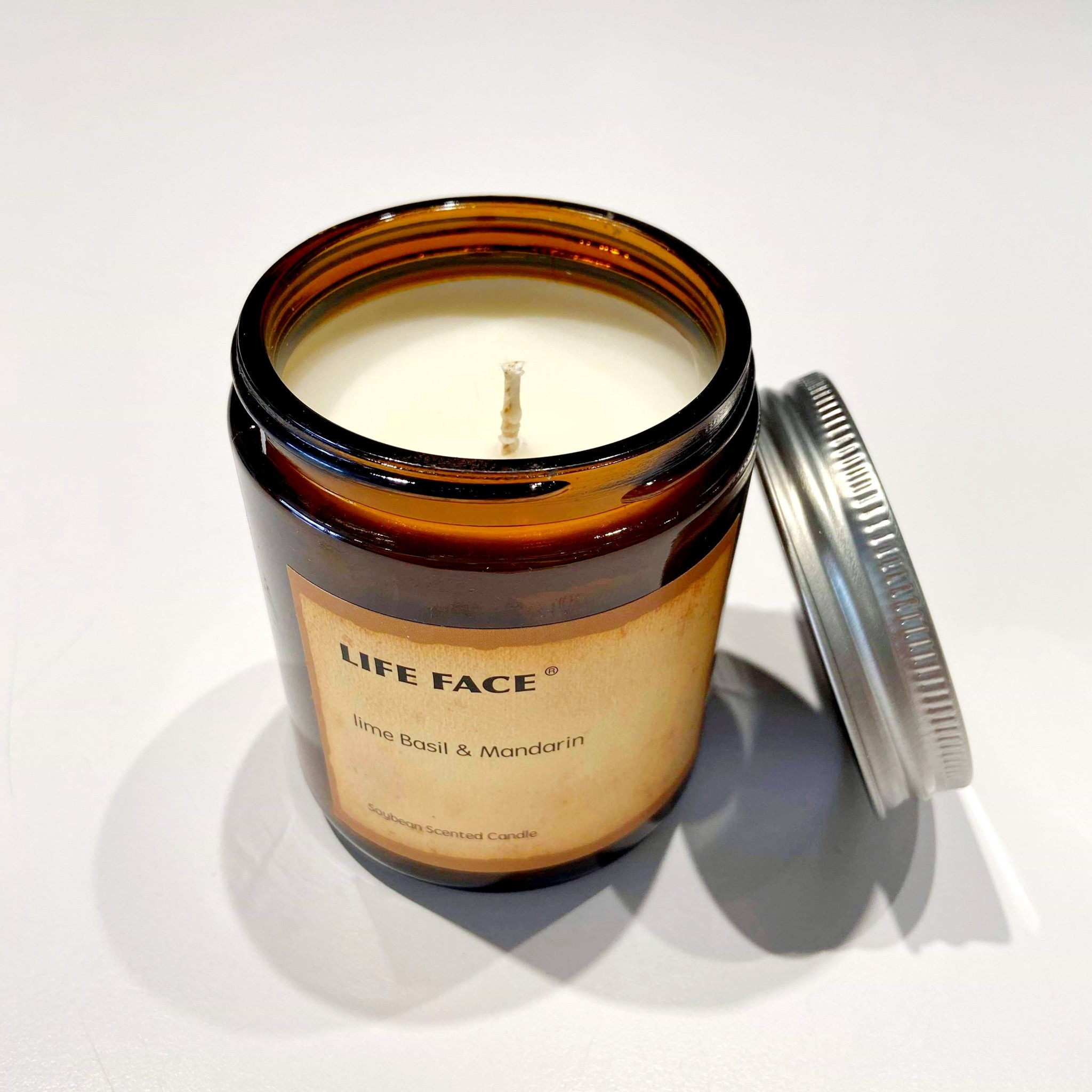Soy Candle in Jar - Lime Basil and Orange