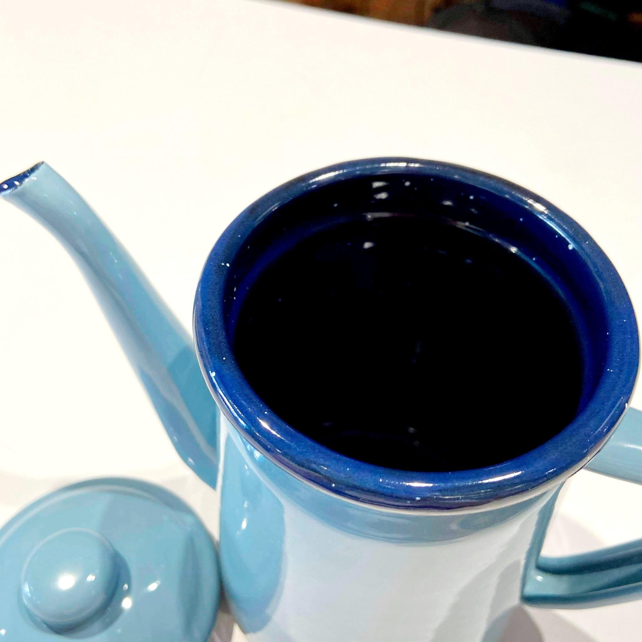 1 Litre Blue Teapot