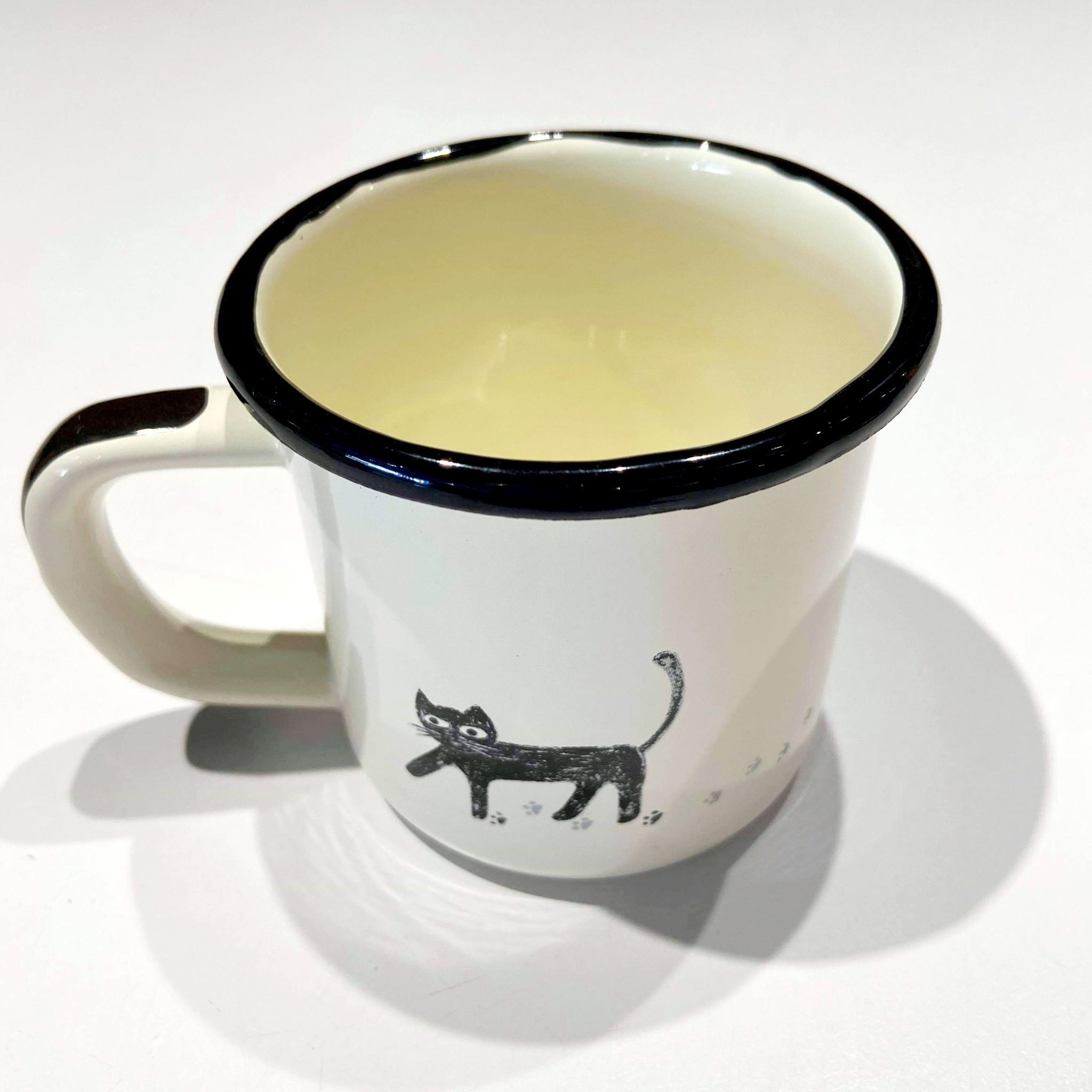 7cm Cat White Mug