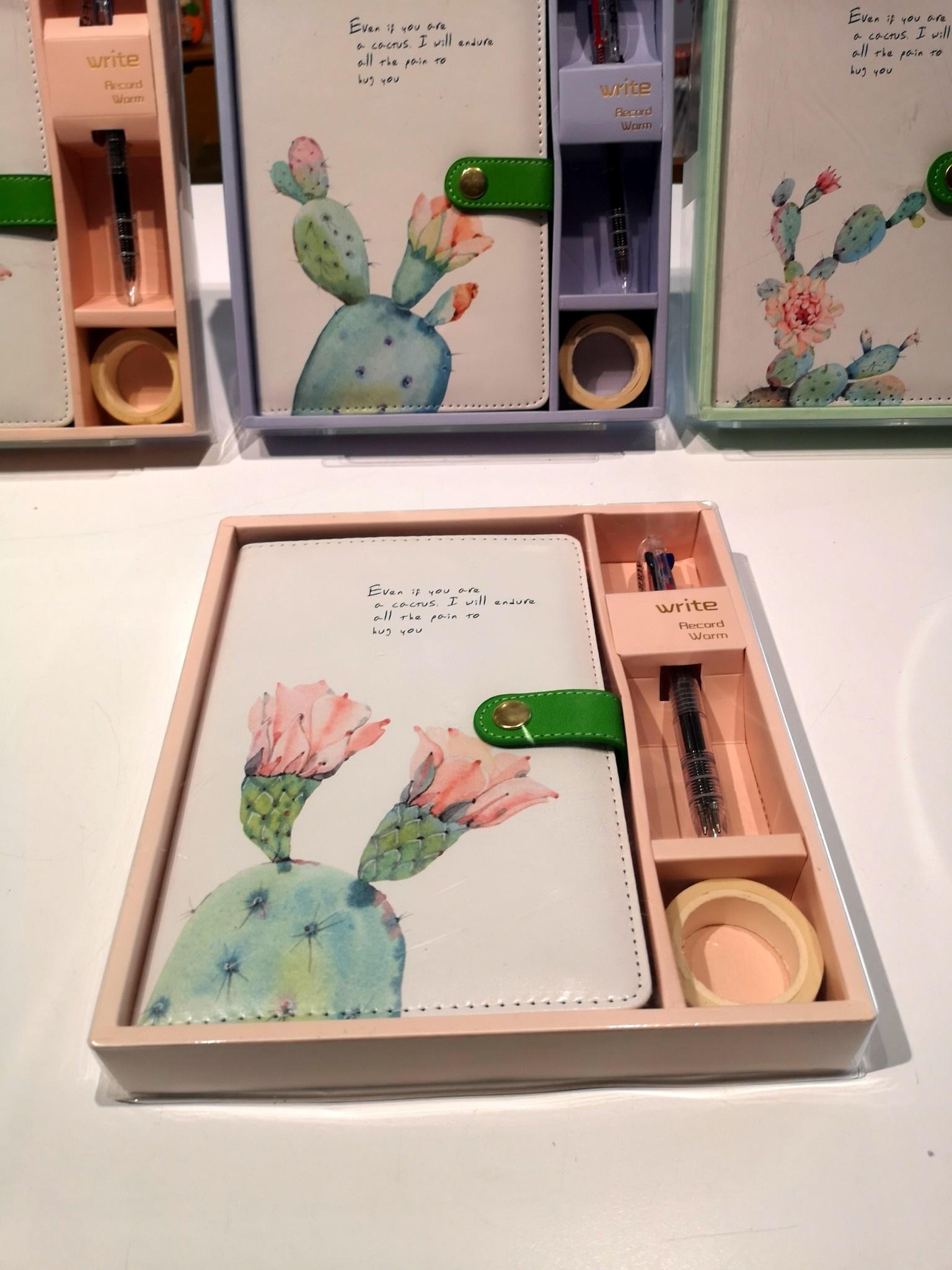 Cactus Journal Gift Set