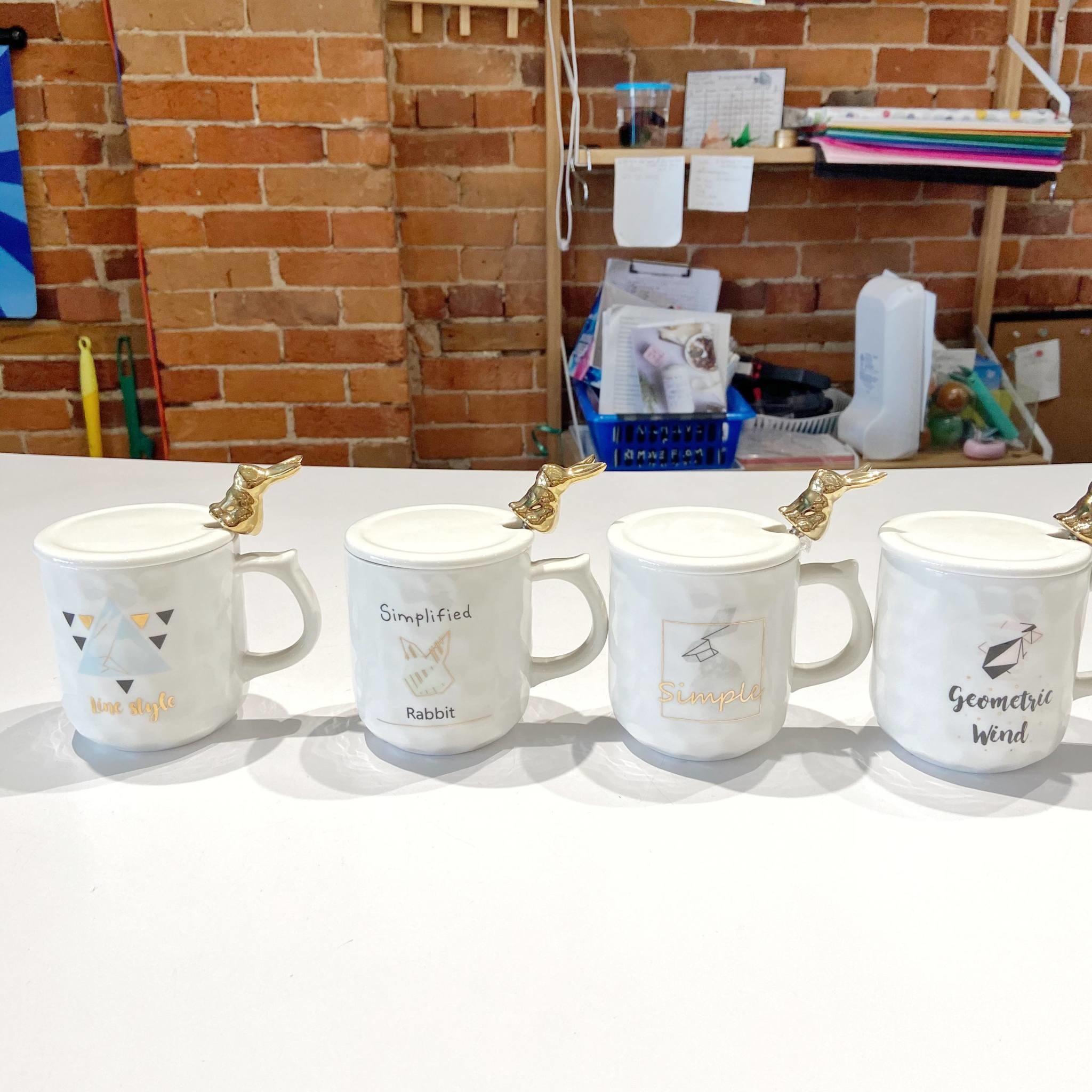 HD389-4 Simplified Rabbit Mugs