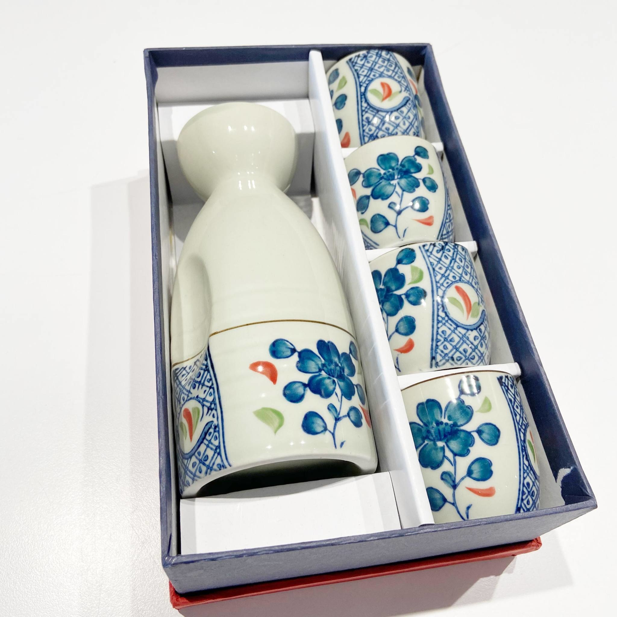 Blue Tree Chili Sake Set