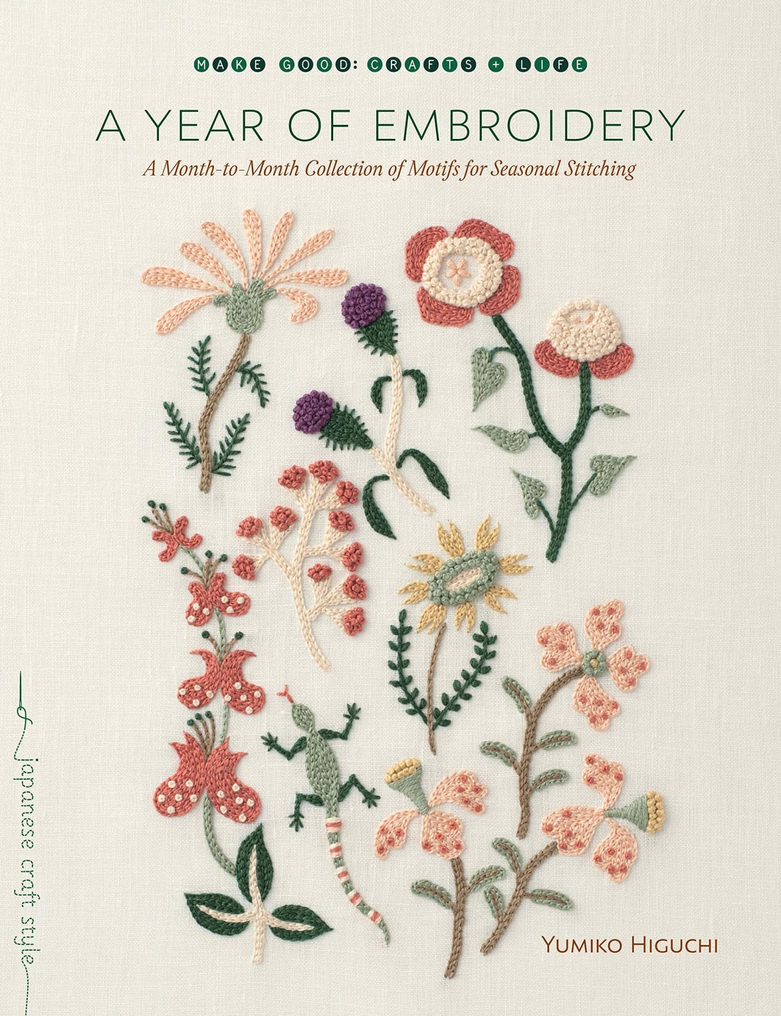 A Year of Embroidery Book