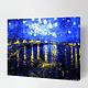 Night Sky on Bridge DIY Painting