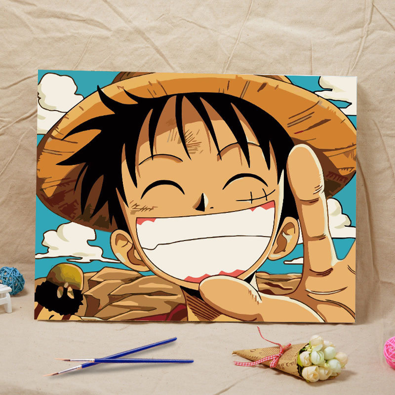 Luffy One Piece DIY Painting