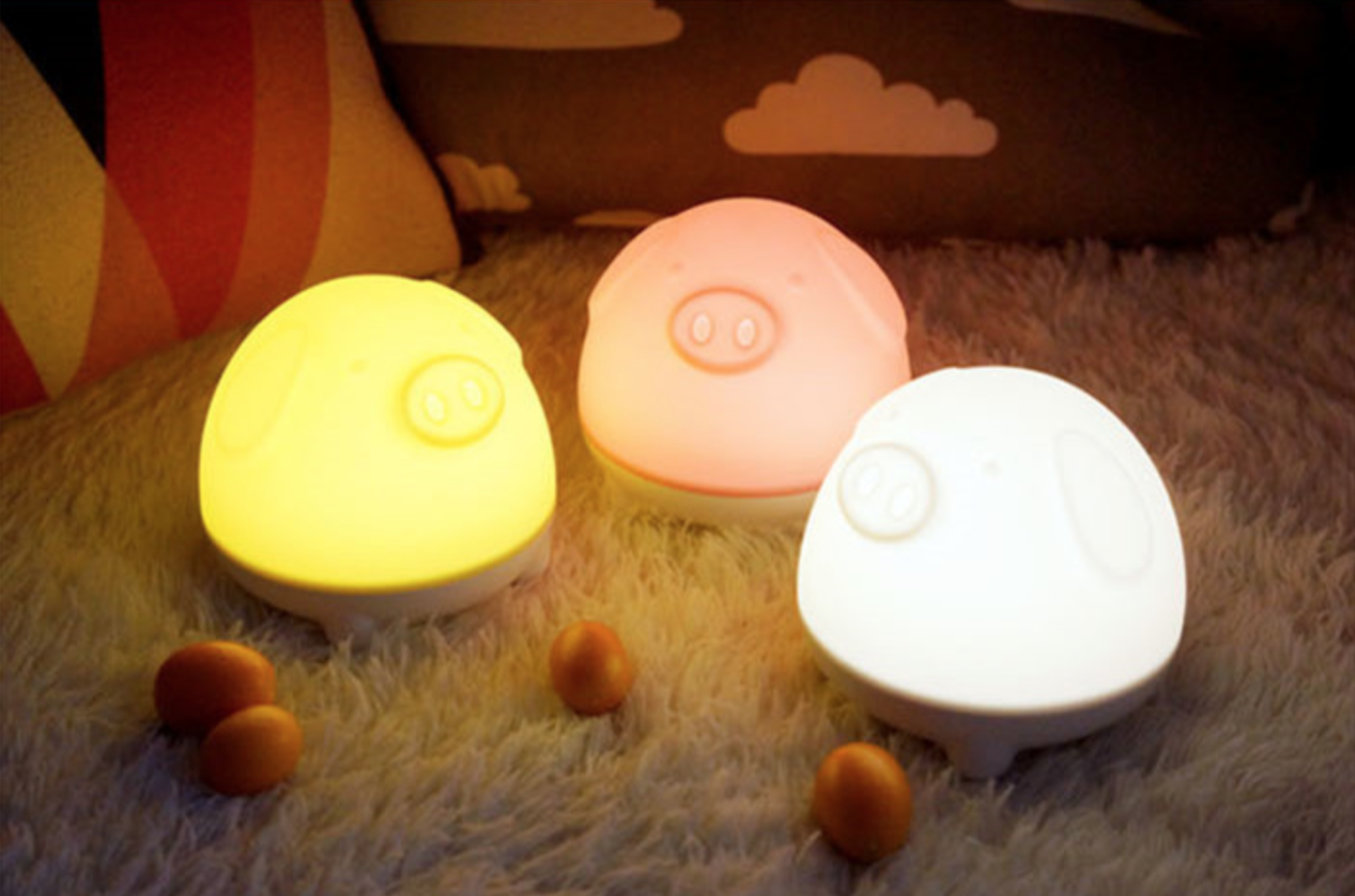 Piggy Sleep Nightlight White