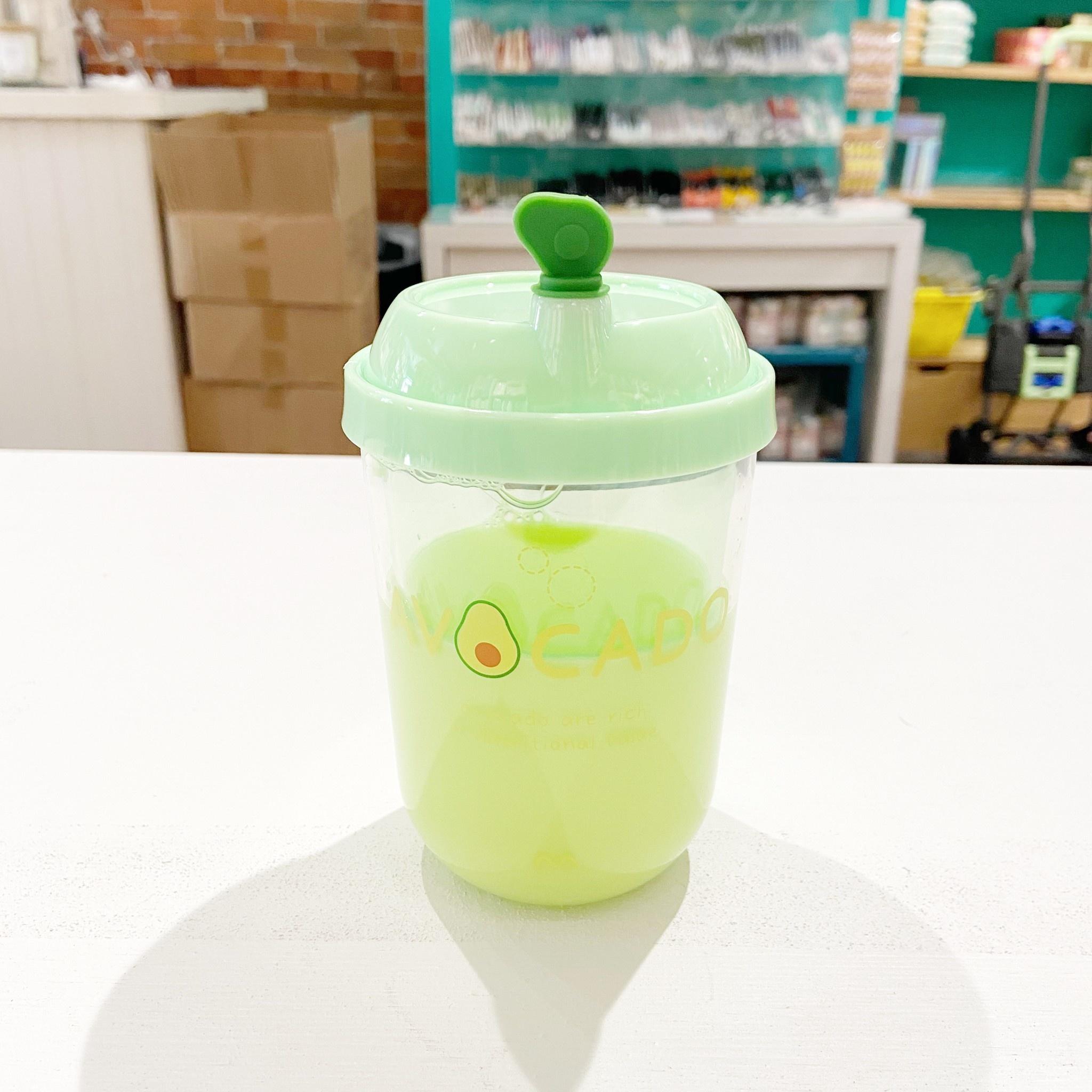 MHK030782 Avocado Lemon Plastic Waterbottle