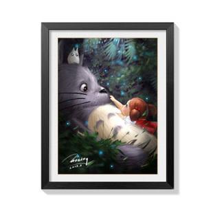 AJ154-01 Totoro Napping DIY Dot Painting