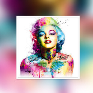 WX5160-01 Colorful Marilyn Monroe DIY Dot Painting