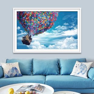 ZT2893-01 Up Hot Air Balloon DIY Dot Painting