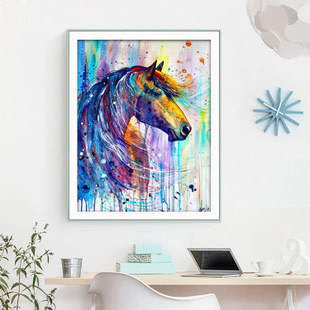 WM4048-01 Colorful Horse DIY Dot Painting