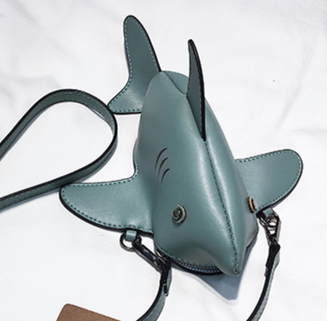 Grey Shark Purse