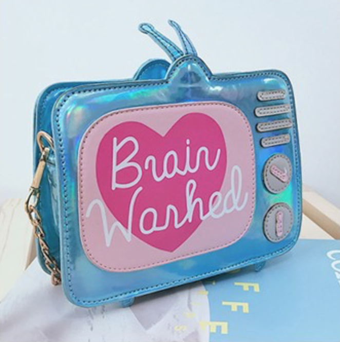 Brain Washed Blue Purse