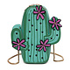 Cactus with Flowers Purse