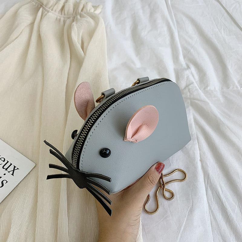 Grey Mouse Purse