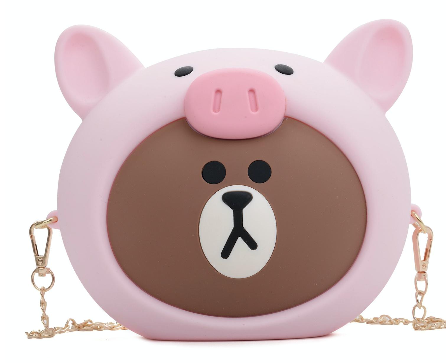 Bear Head in Pig Purse