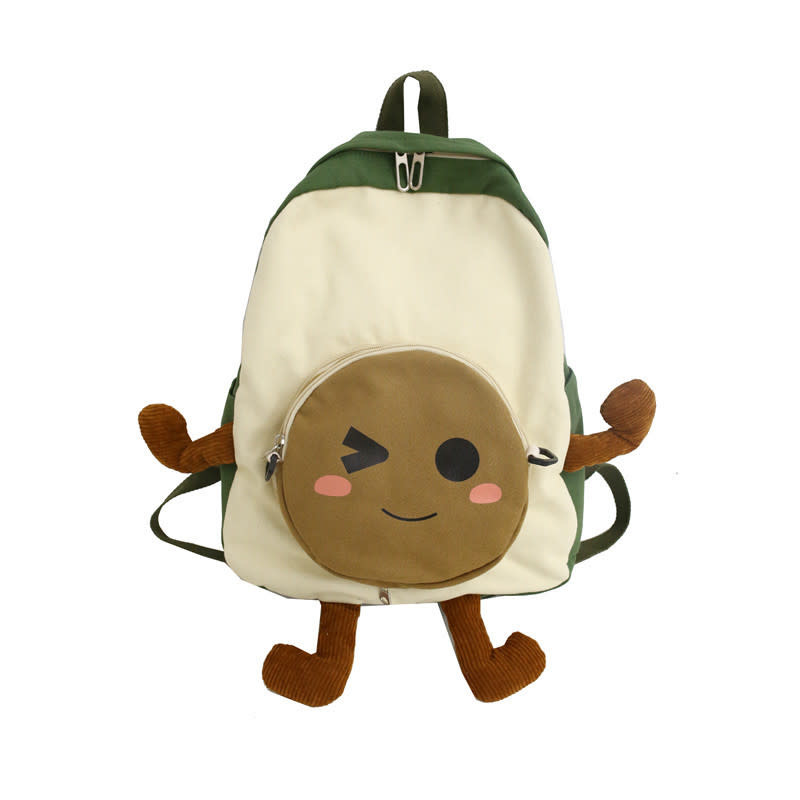 Avocado Wink Face Backpack