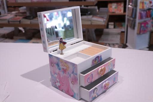 Disney Princess Rectangle 2 Drawer Jewellery Box
