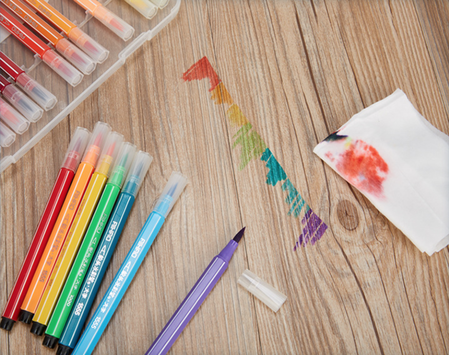 12 Watercolor Children Marker