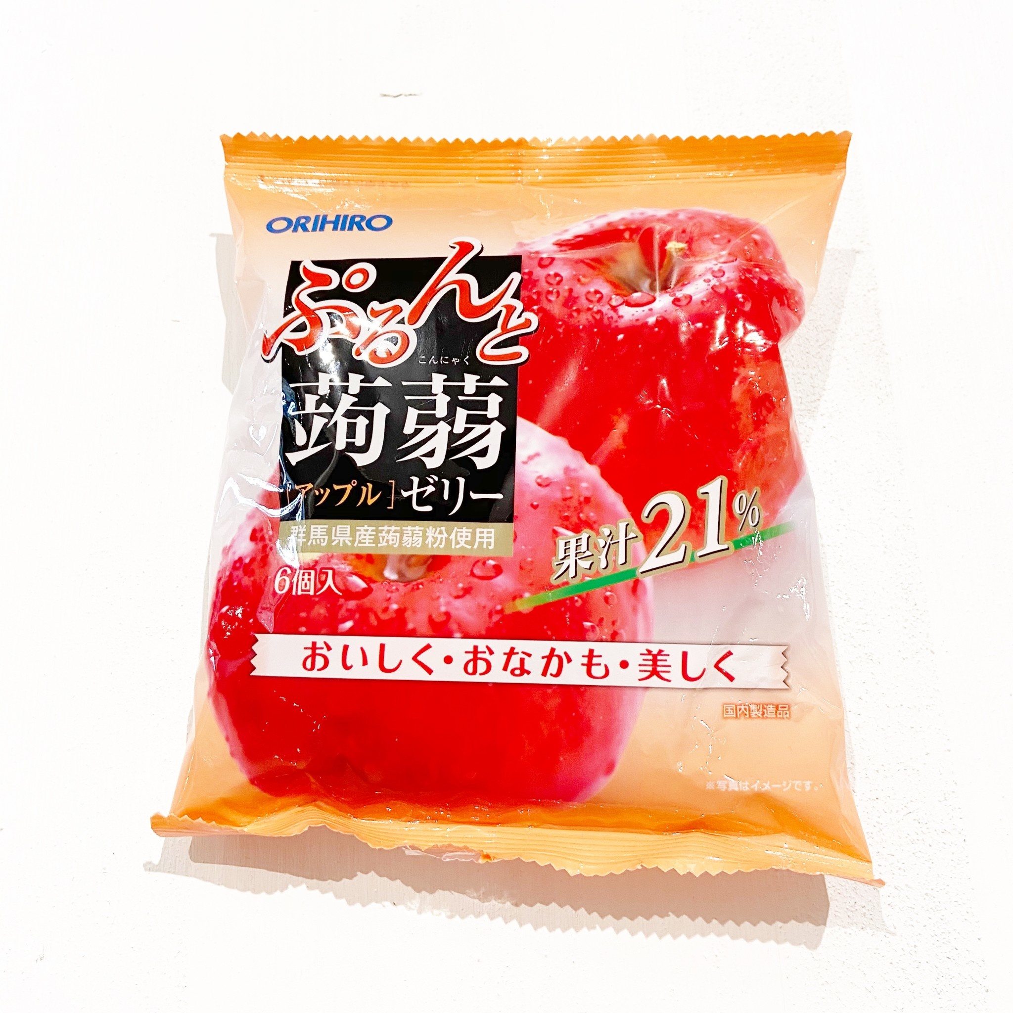 ORIHIRO Konjac Jelly Apple Flavor