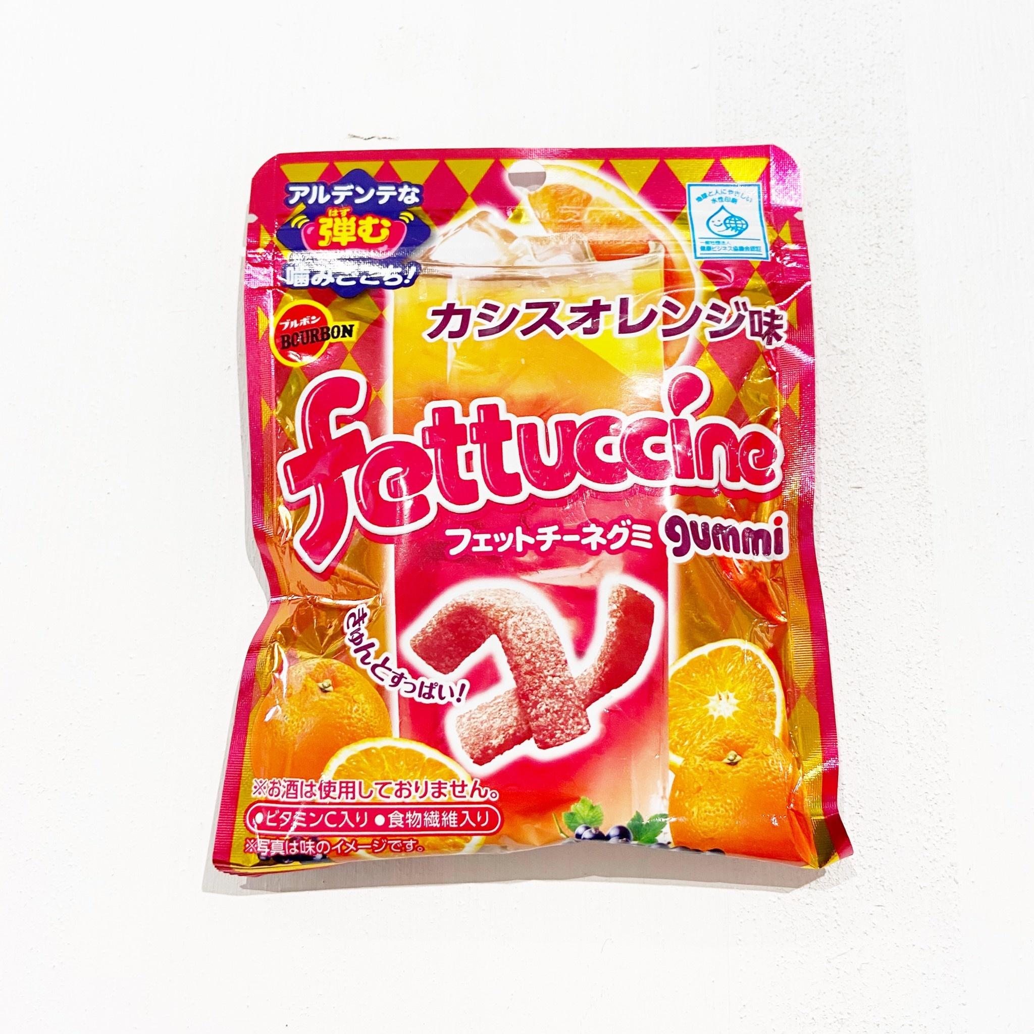 BOURBON Fettuccine Orange Gummy Candy
