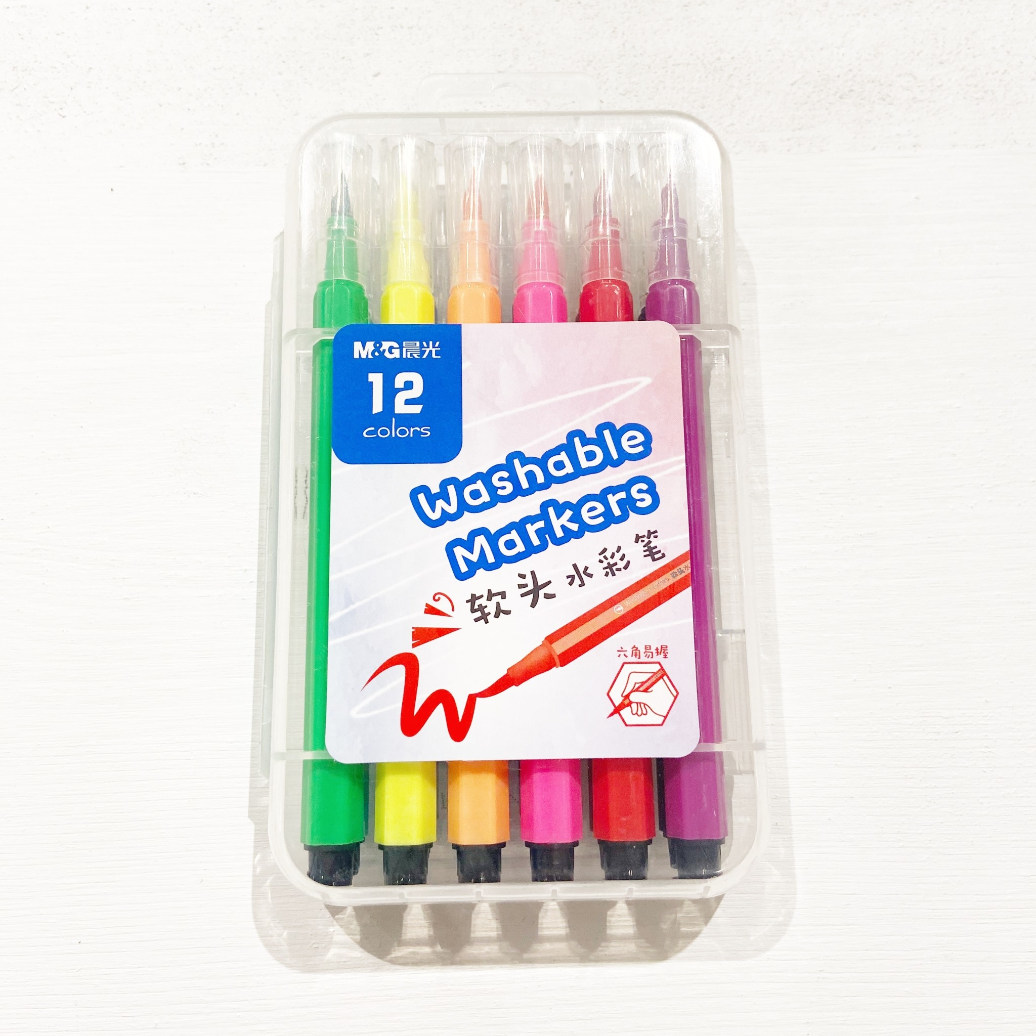 12 Set Hexagon Watercolor Marker Set