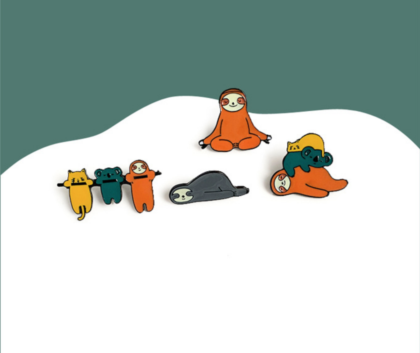 Sloth/Koala/Cat Pile Pin