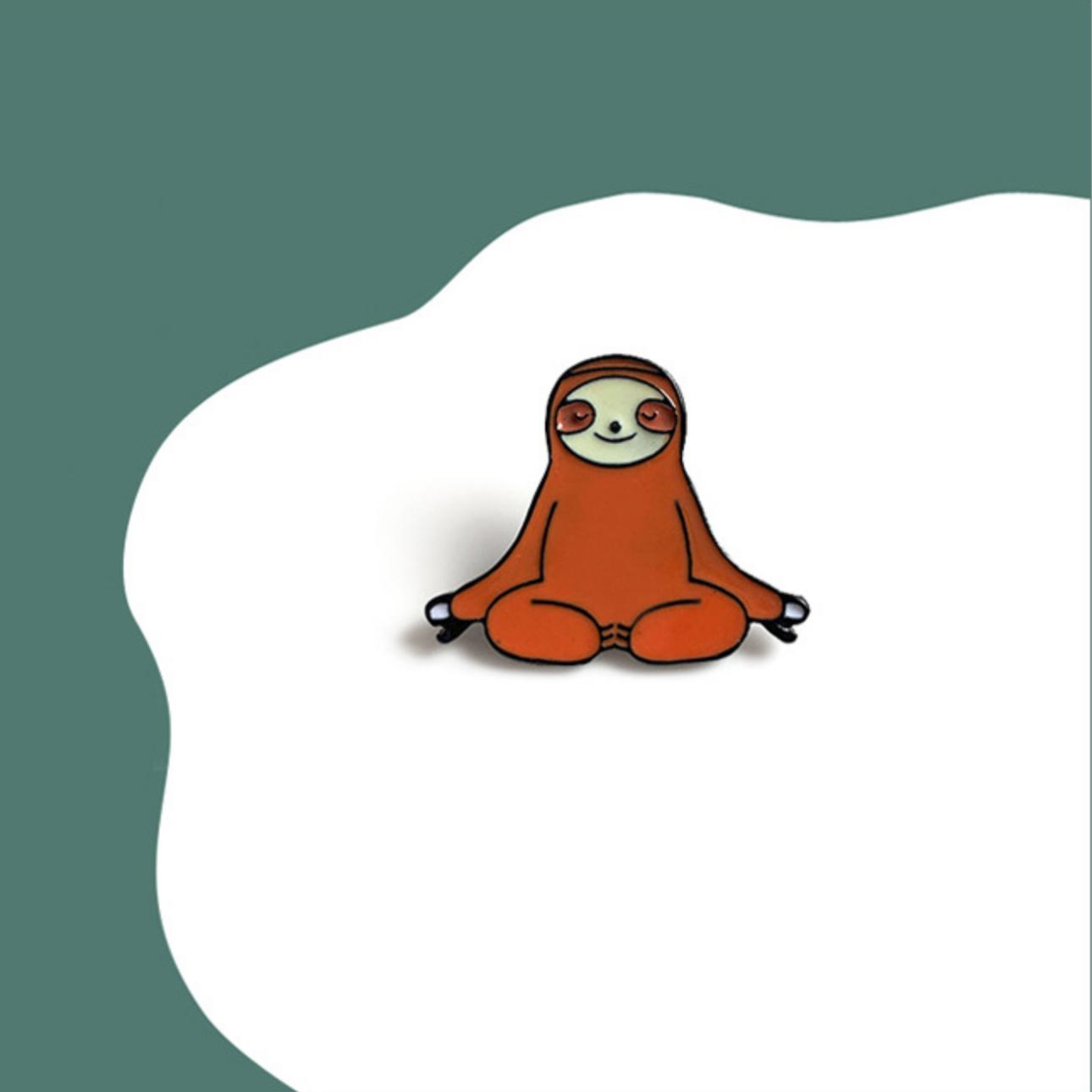 Sloth Yoga Pin
