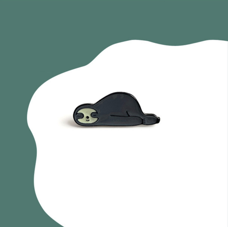Gray Sloth Nap Pin
