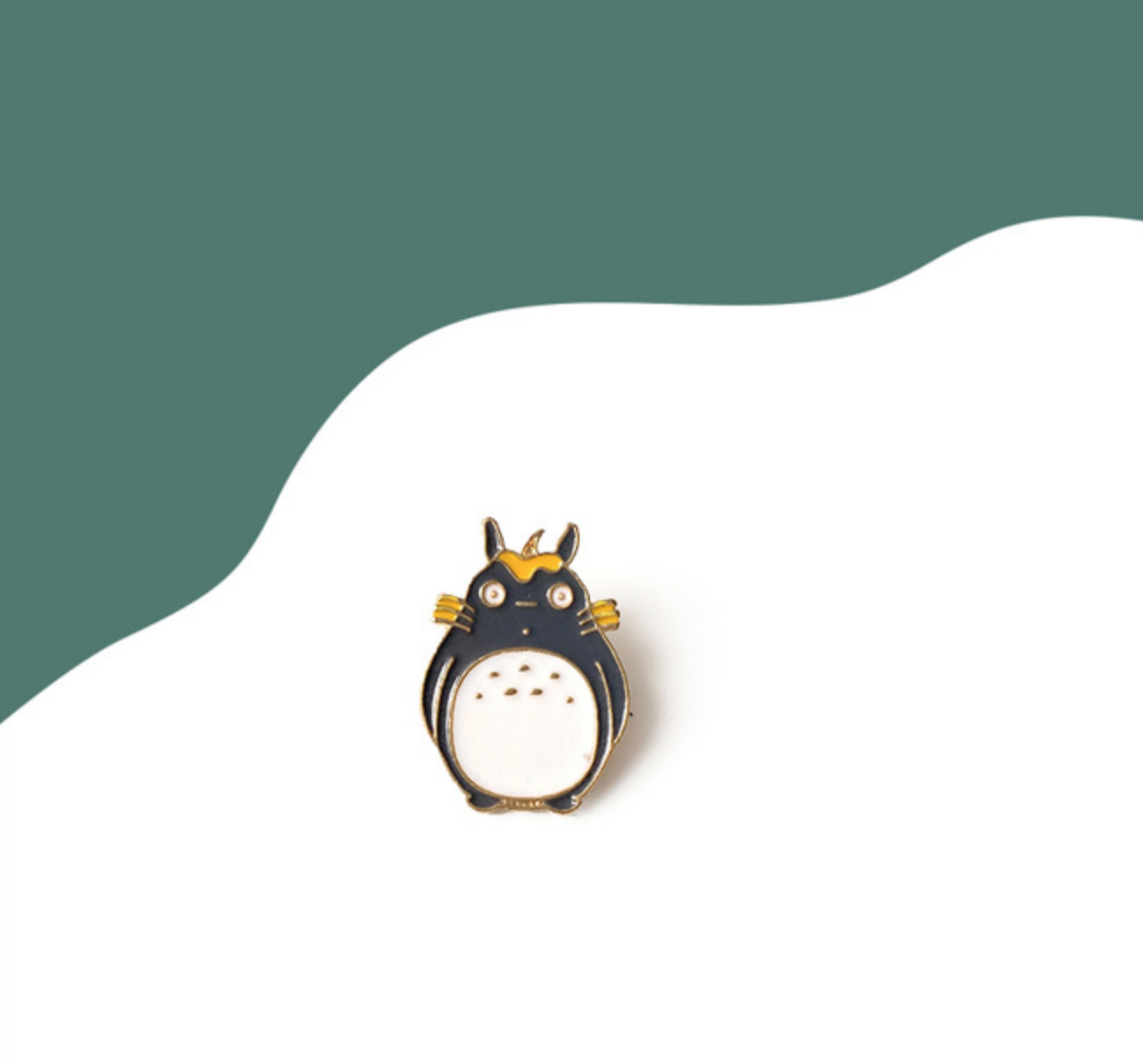 Totoro with Yellow Leaf Pin