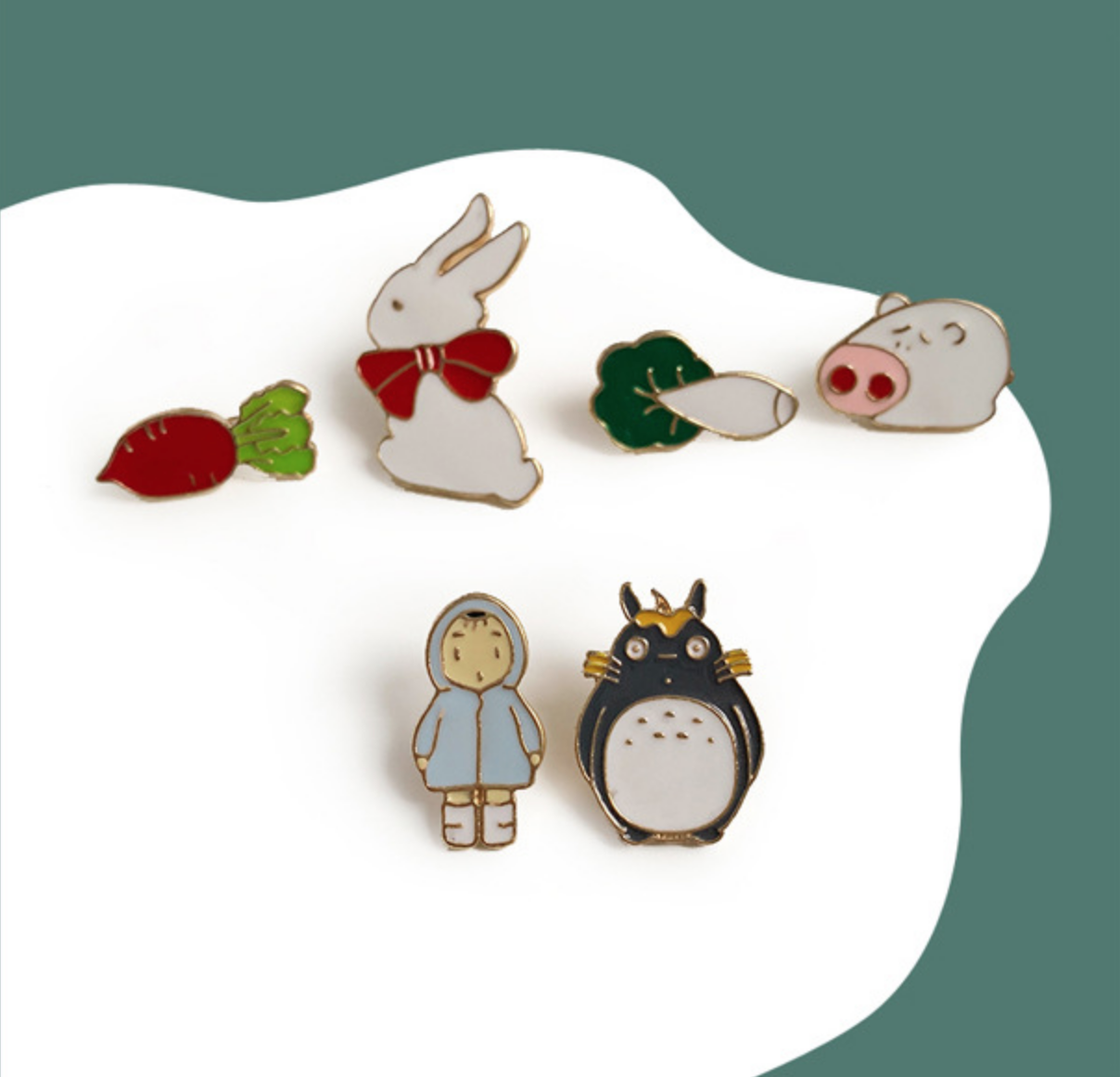Totoro Blue Jacket Girl Pin