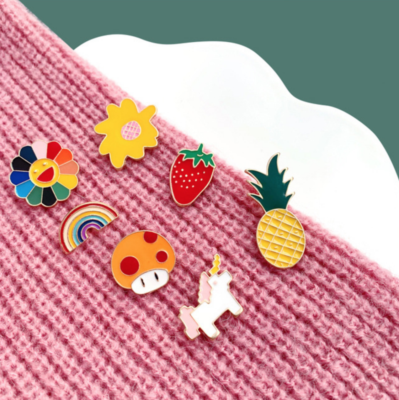 Rainbow Sunflower Pin