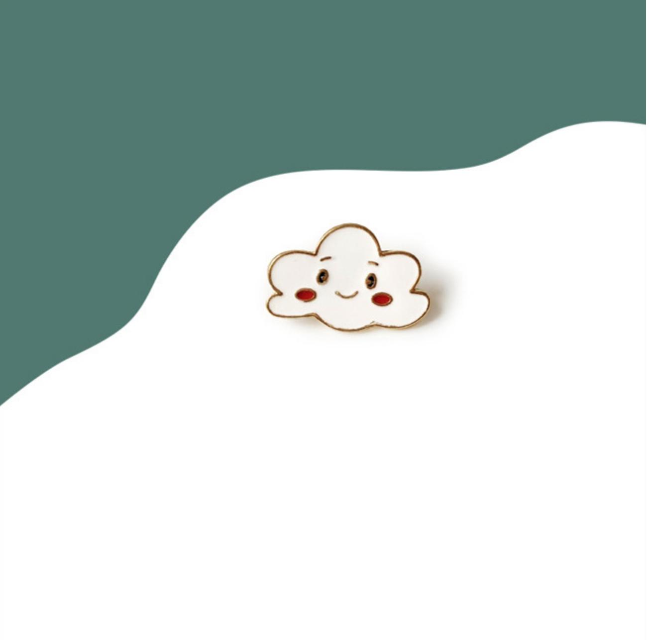 Smiley Cloud Pin