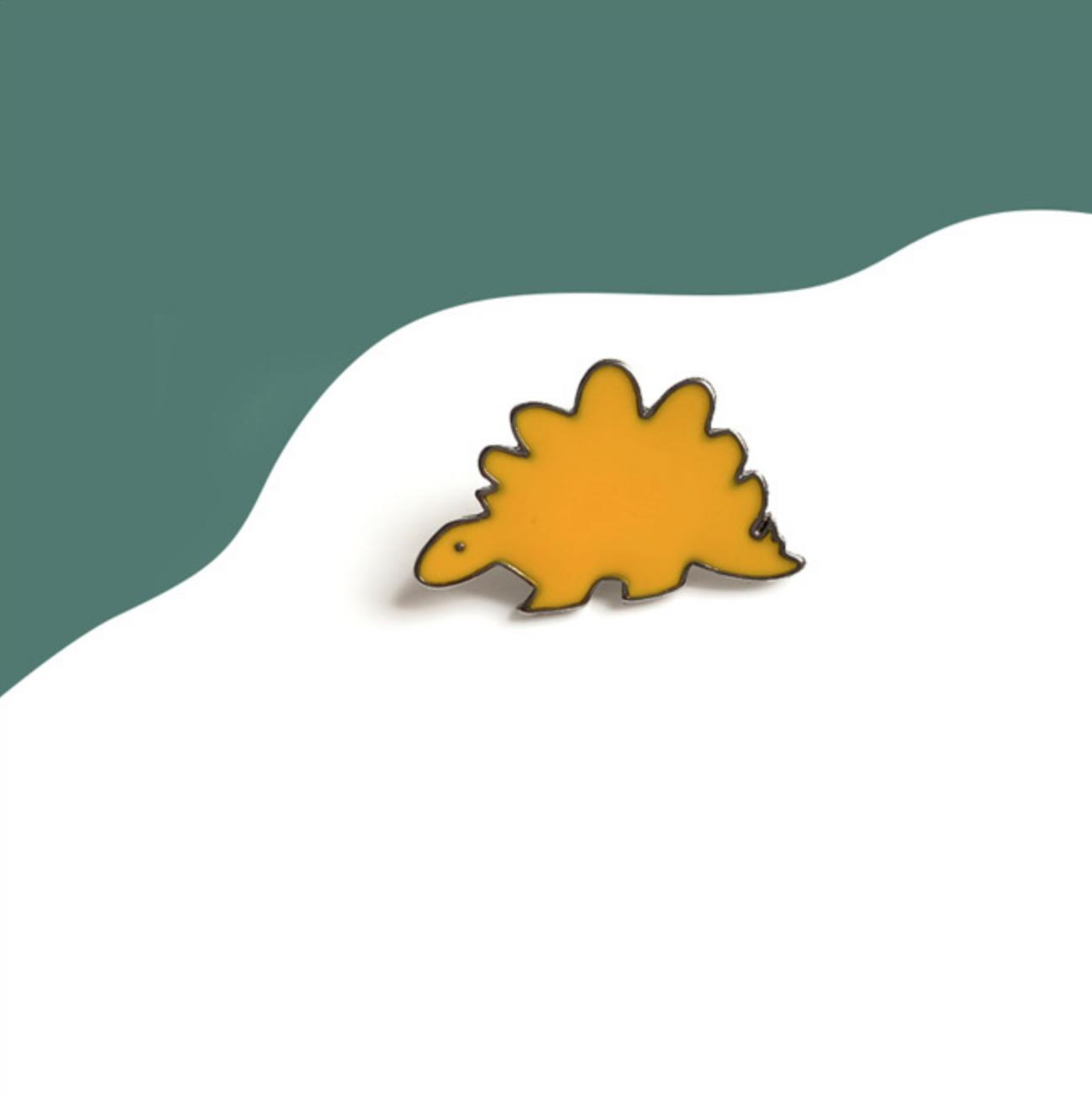 Yellow Stegosaurus Pin
