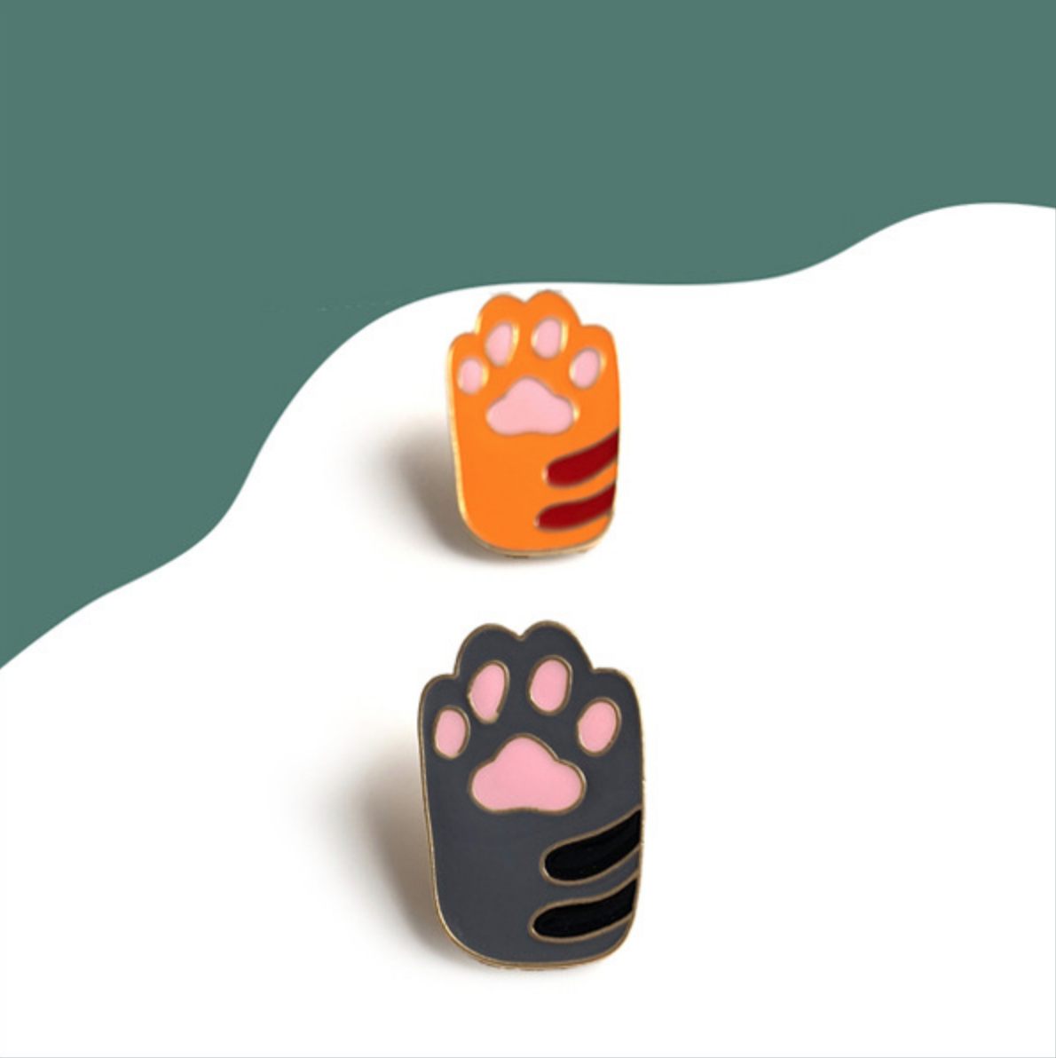 Cat Paw Pin Grey
