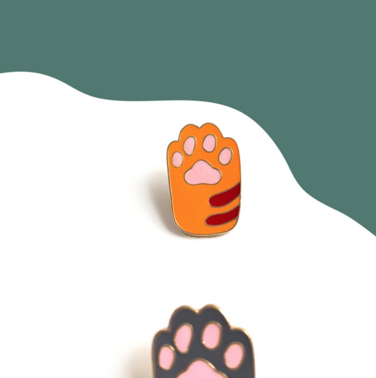 Cat Paw Pin Yellow