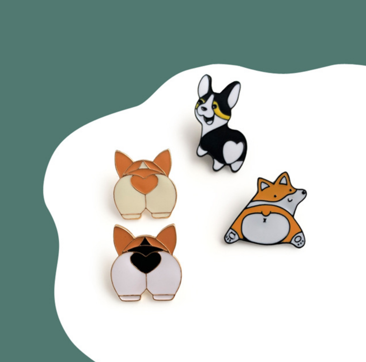 Corgi Butt B Pin