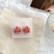 Pink Rose Clip On Earring