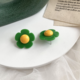 Green Daisy Earring