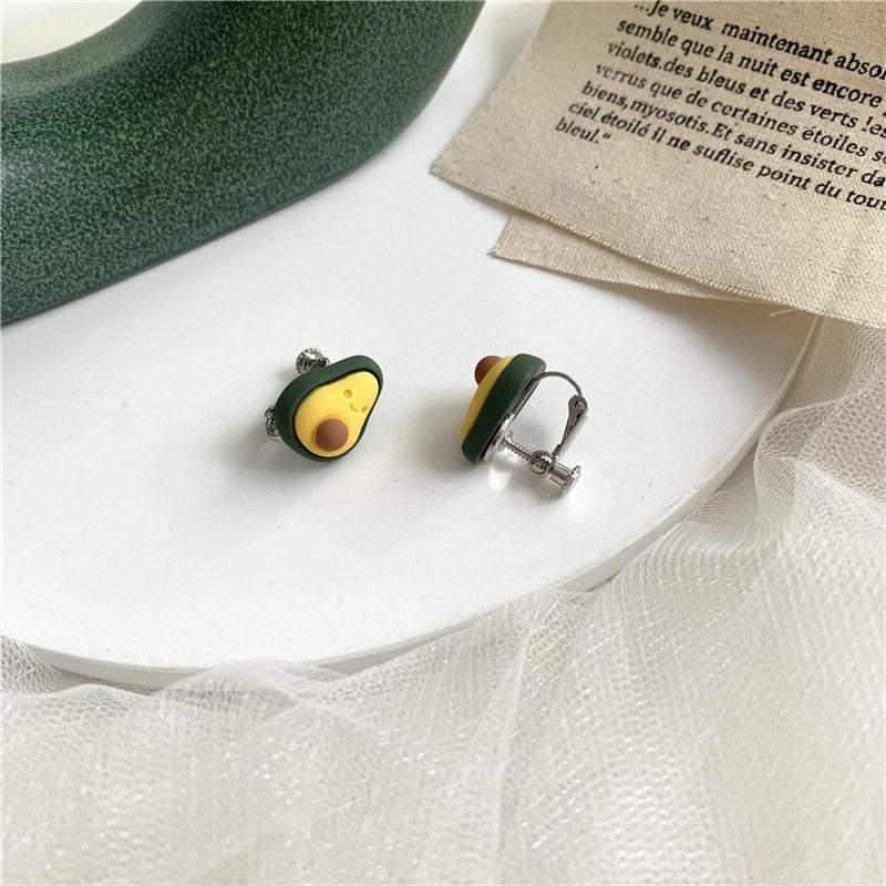 Avocado Yellow Clip On Earring