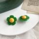 Yellow Green Daisy Earring