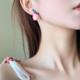 Coral Peach Plant Earring