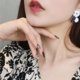 White Flower on Branches Clip-On Earring
