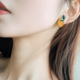 Orange Earring