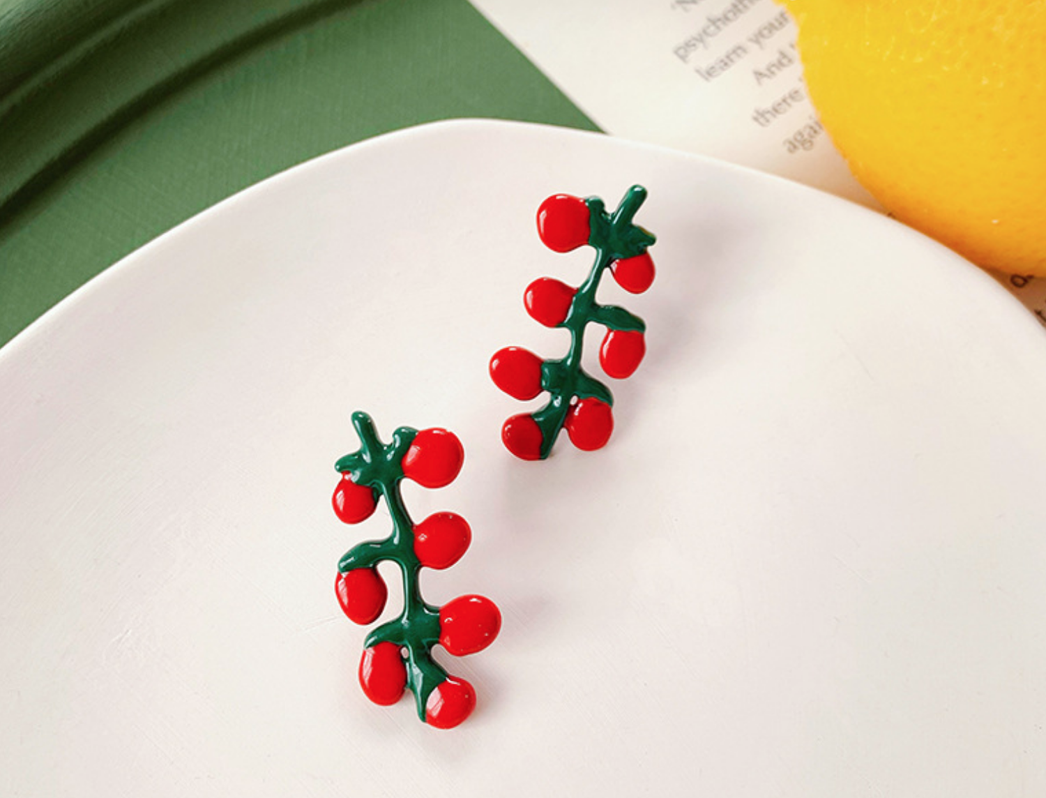 Tomato Clip-On Earring