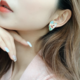 Colorful Pastel Face Heart Earring