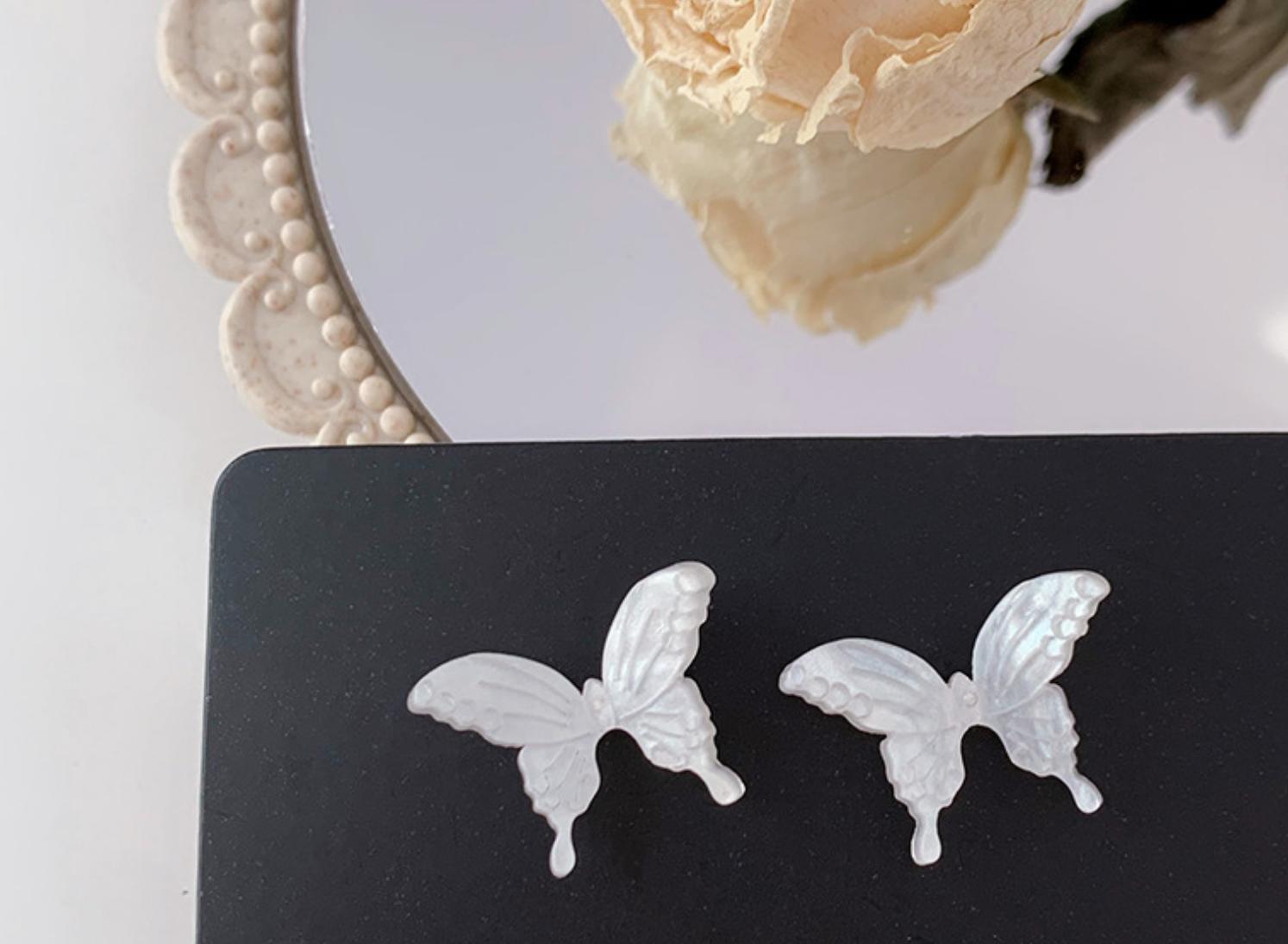 White Butterfly Earring