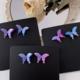 Purple Butterfly Earring