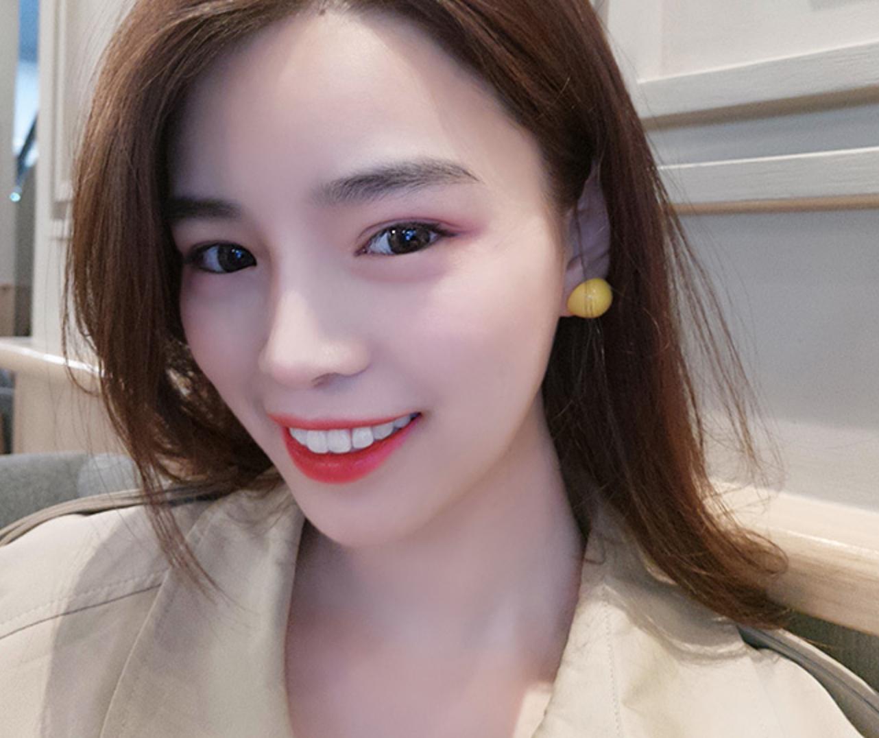 Yellow Dot Earring
